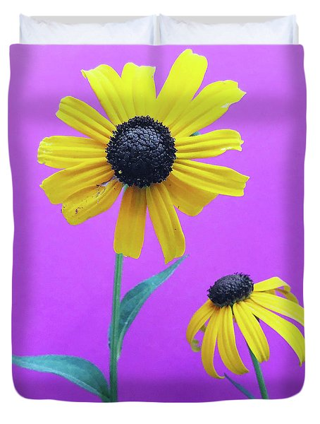Duvet Cover featuring the photograph Rudbeckia 3 by Cindy Garber Iverson