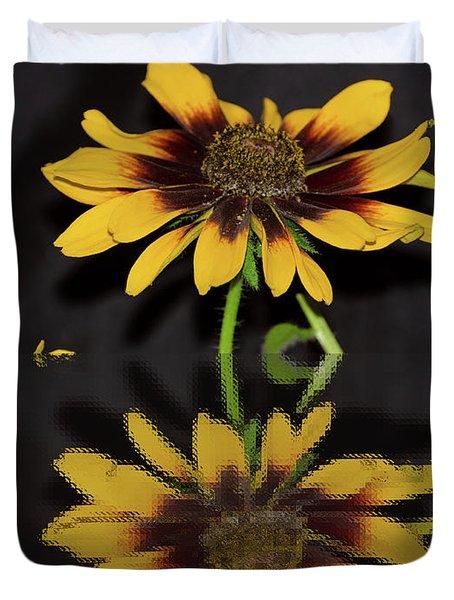 Rudbeckia Reflection Duvet Cover