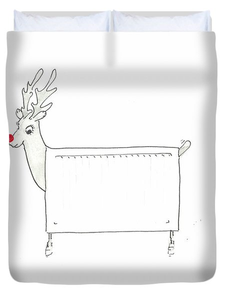Rudolf The Red Nosed Radiator Duvet Cover