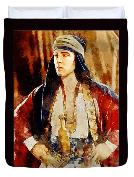 Rudolph Valentino As The Sheikh Duvet Cover