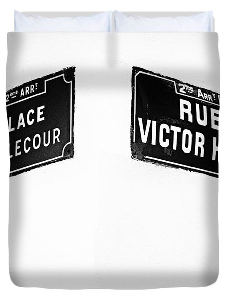 The Corner Of Place Bellecour And Rue Victor Hugo Duvet Cover