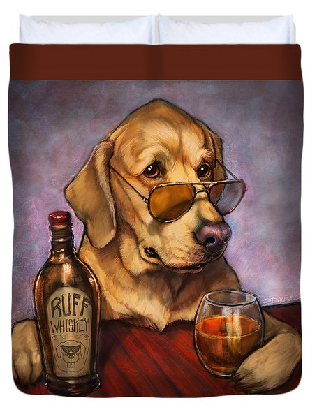 Ruff Whiskey Duvet Cover