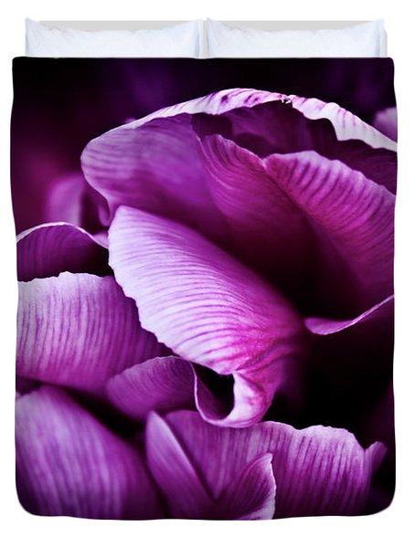 Ruffled Edge Tulips Duvet Cover