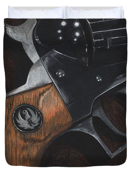 Ruger 44 Magnum Super Blackhawk Revolver Duvet Cover