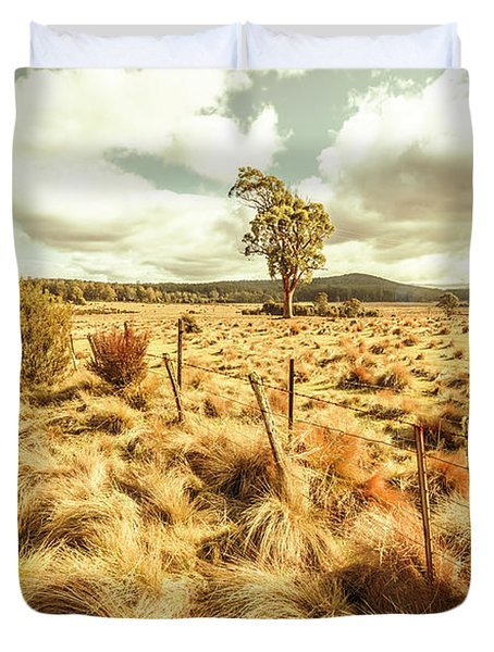 Rugged Australian Pastures Duvet Cover