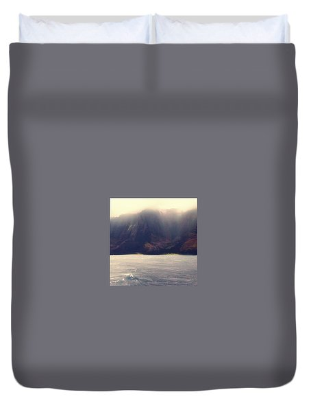 Duvet Cover featuring the photograph Rugged Coast by Jim Vance