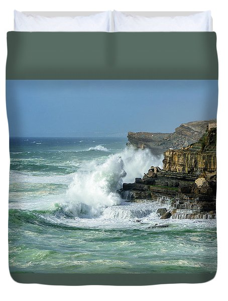 Rugged Coastal Seascape Duvet Cover by Marion McCristall