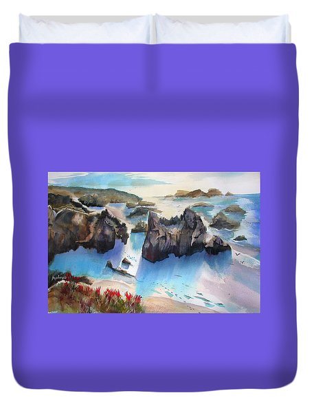Marin Lovers Coastline Duvet Cover