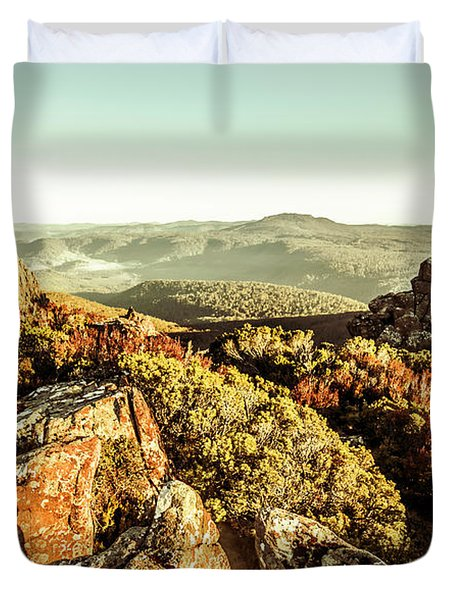 Rugged Mountaintops To Regional Valleys Duvet Cover