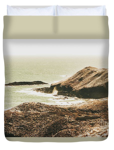 Rugged Rocky Cape Duvet Cover