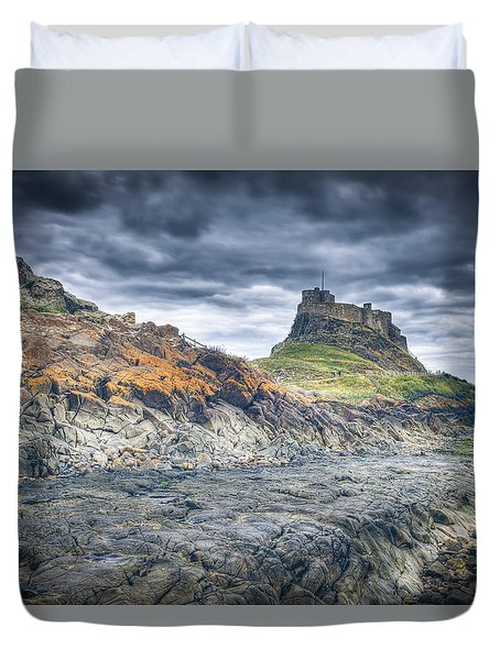 Duvet Cover featuring the photograph Rugged Shoreline by Ray Devlin