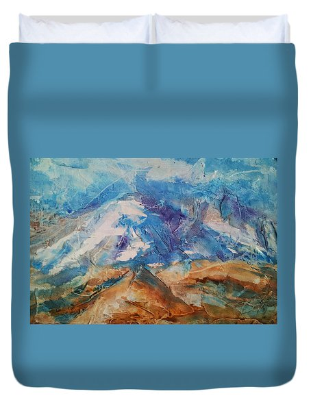 Rugged Terrain Duvet Cover by Becky Chappell