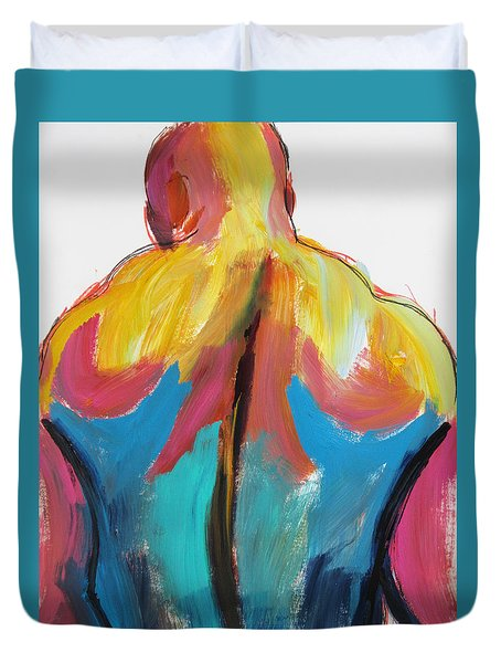 Rugger Man Broad Back Duvet Cover by Shungaboy X