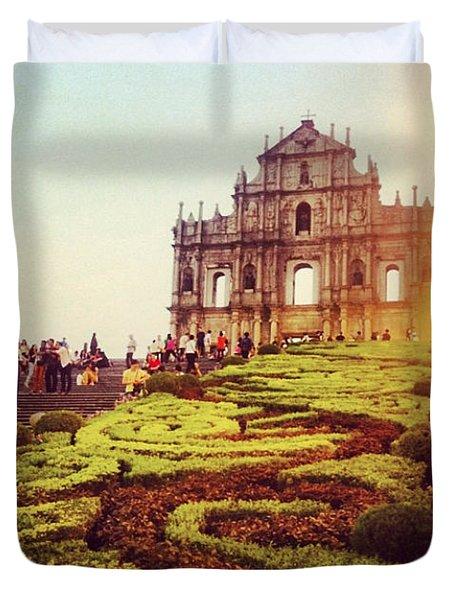 Ruinas De Sao Paulo Macau  Duvet Cover