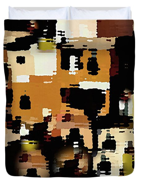 Ruins, An Abstract Duvet Cover