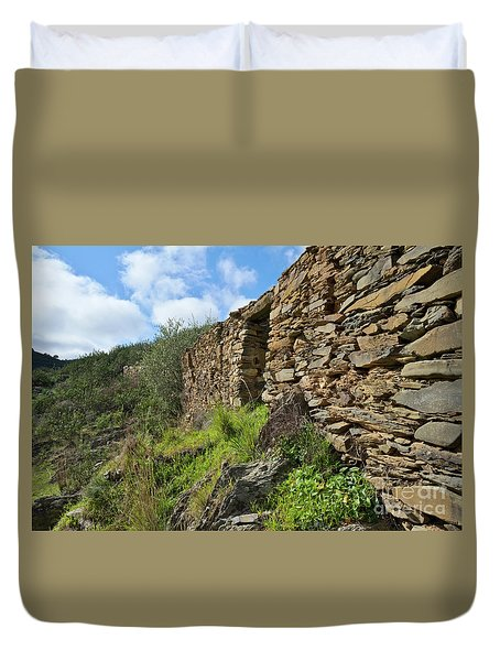 Ruins Of A Schist Cottage In Alentejo Duvet Cover by Angelo DeVal
