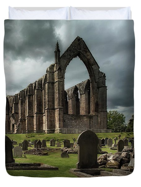 Ruins Of Bolton Abbey Duvet Cover by Jaroslaw Blaminsky