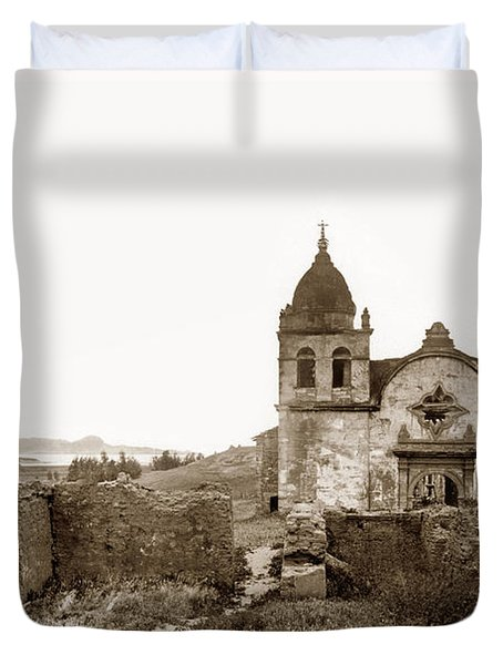 Ruins Of Carmel Mission, Monterey, Cal. Circa 1882 Duvet Cover