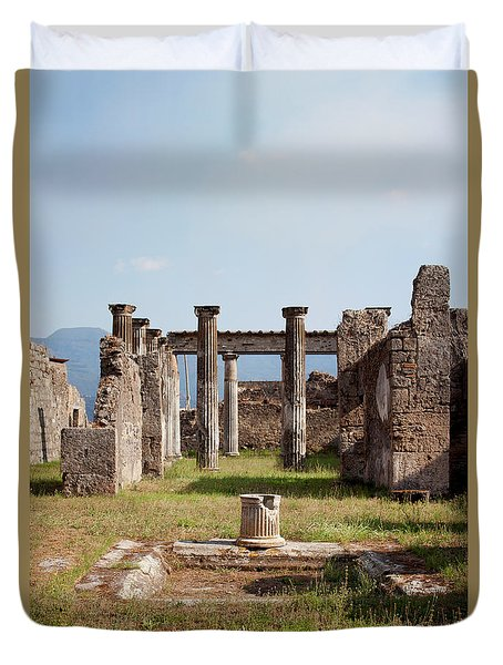 Ruins Of Pompeii Duvet Cover by Ivete Basso Photography