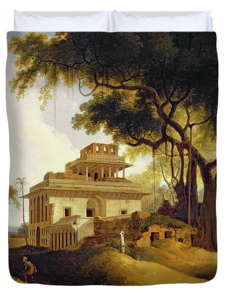 Ruins Of The Naurattan Duvet Cover by Thomas Daniell