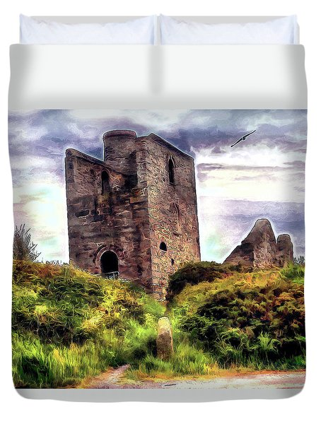 Ruins Of The Old Tin Mine Duvet Cover