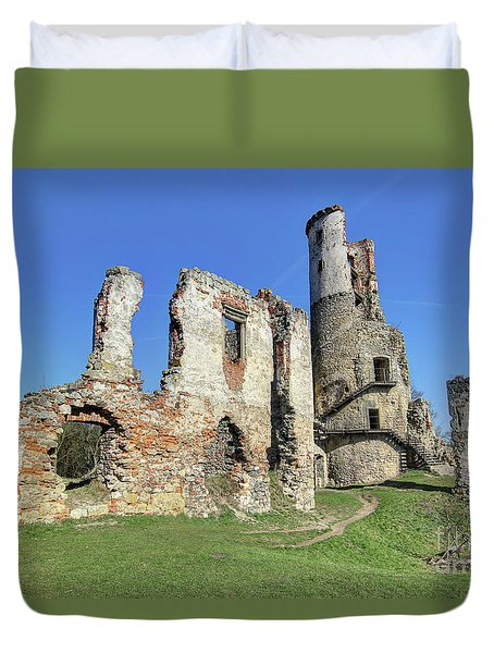 Duvet Cover featuring the photograph Ruins Of Zviretice Castle by Michal Boubin