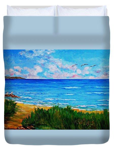 Rullsands Beach / Sweden-gaevle Duvet Cover