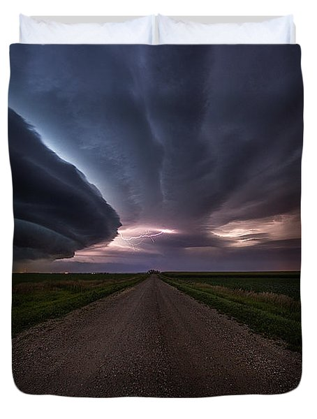 Duvet Cover featuring the photograph Run by Aaron J Groen