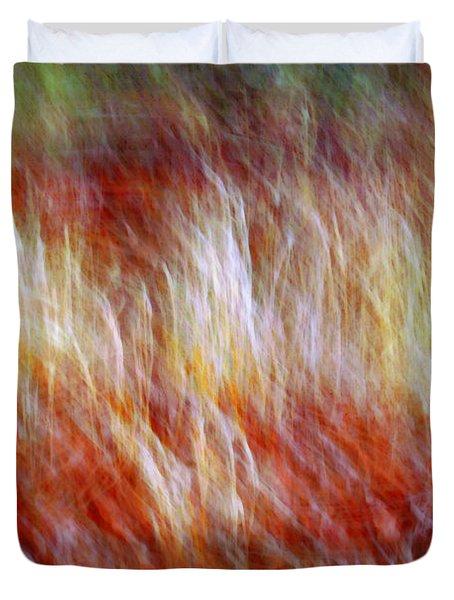 Run Like Hell Duvet Cover by Linda Sannuti