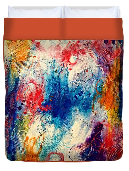 Duvet Cover featuring the painting Run Like The Wind by Tracy Bonin