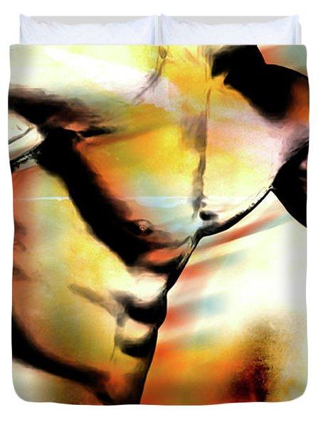 run Duvet Cover by Mark Ashkenazi