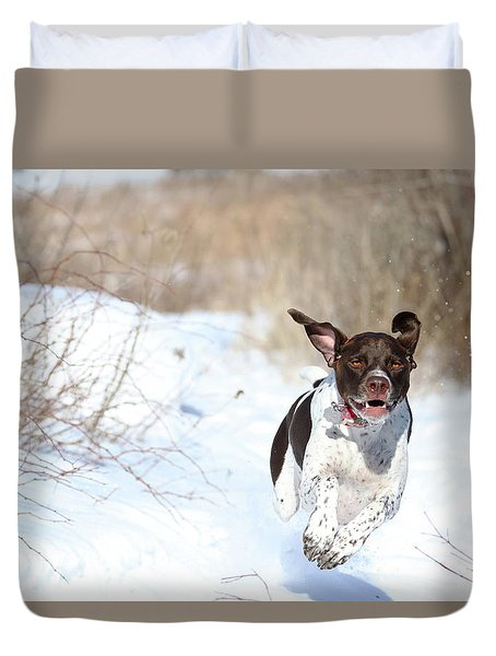 Run Millie Run Duvet Cover