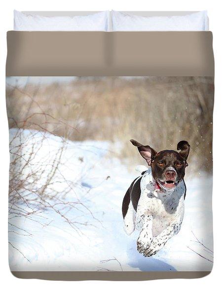 Run Millie Run Duvet Cover