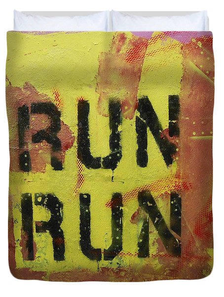 Run Run Duvet Cover