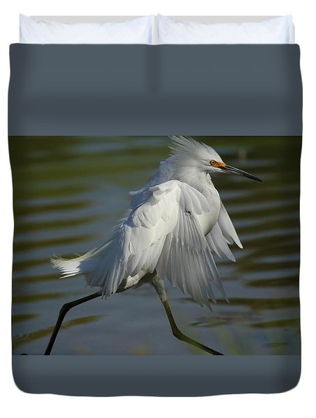 Run Snowy Run Duvet Cover