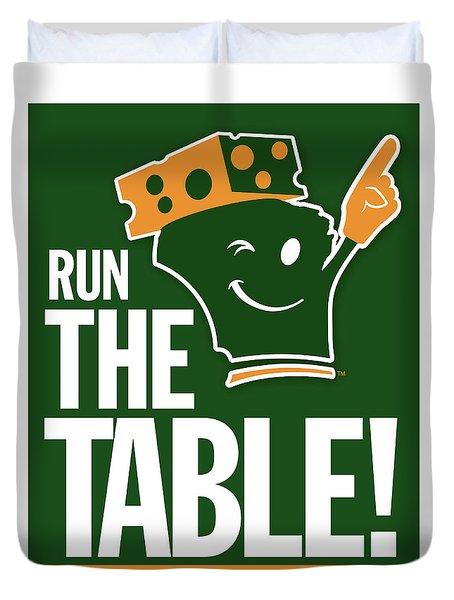 Run The Table Duvet Cover
