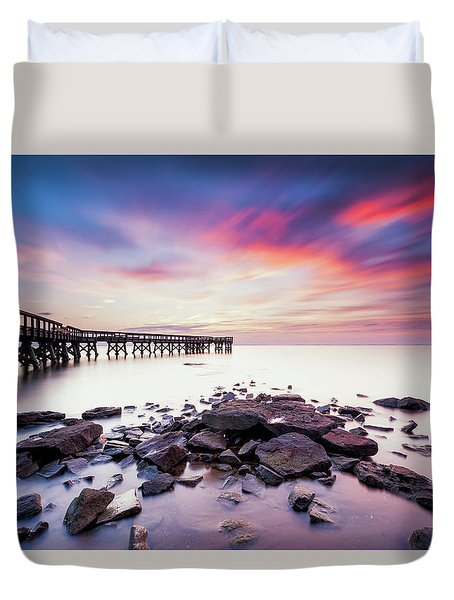 Run To The Sun Duvet Cover