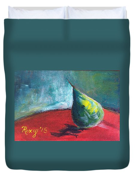Runaway Pear Duvet Cover by Roxy Rich