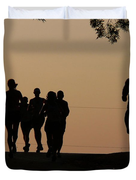 Running Duvet Cover by Angela Wright