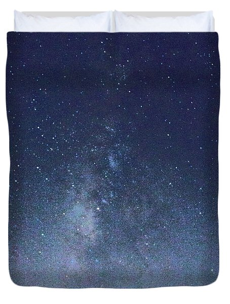 Running Dog Tree And Galaxy Duvet Cover