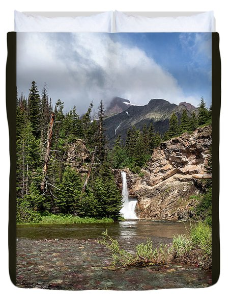 Running Eagle Falls Duvet Cover