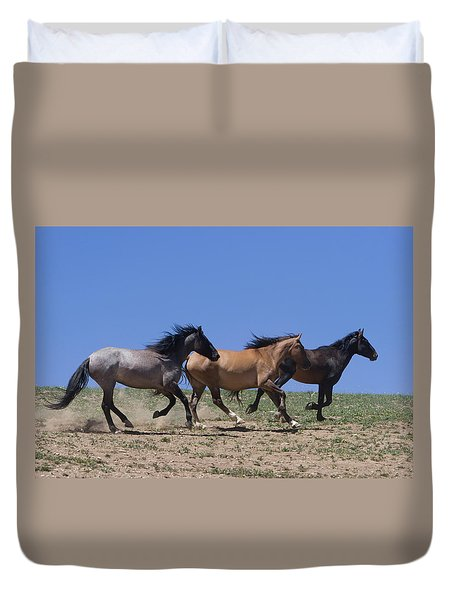 Running Free- Wild Horses Duvet Cover