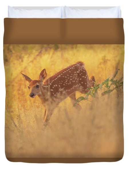 Running In Sunlight Duvet Cover