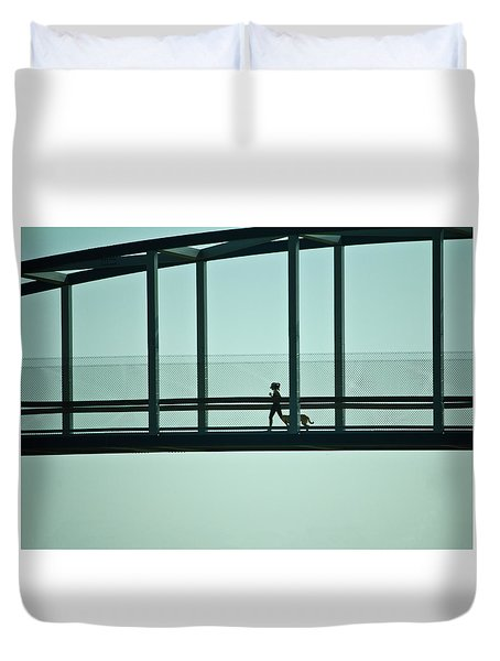 Running On Air Duvet Cover