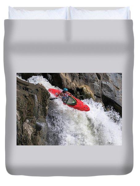 Running The Rapids Duvet Cover