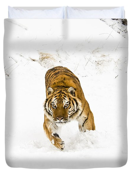 Running Tiger Duvet Cover