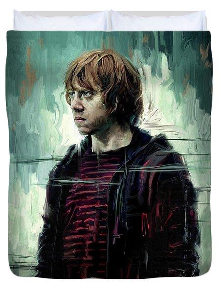 Rupert Grint As Ronald Weasley Duvet Cover