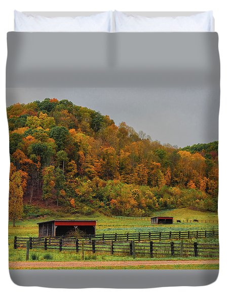 Rural Beauty In Ohio  Duvet Cover