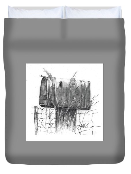 Rural Country Mailbox Duvet Cover