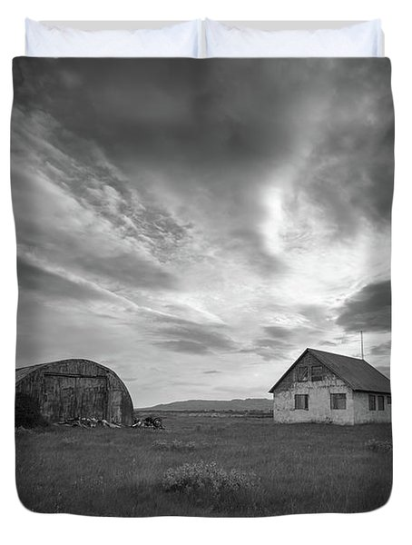 Rural Decay In Iceland Bw Duvet Cover